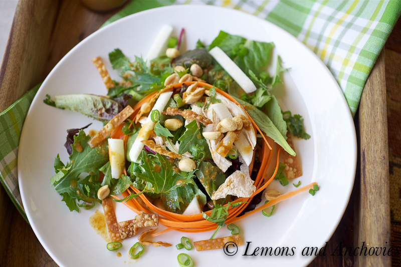 Asian Style Chicken Salad Recipe Lemons Anchovies