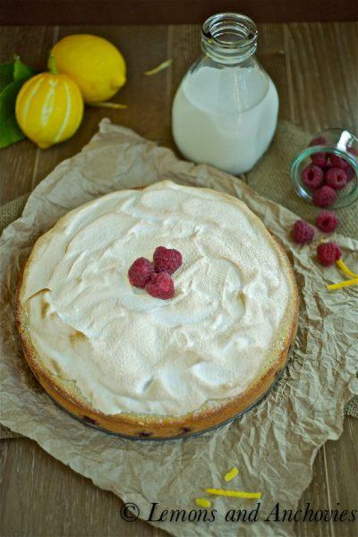 Ligurian Lemon Cake with Meringue Topping