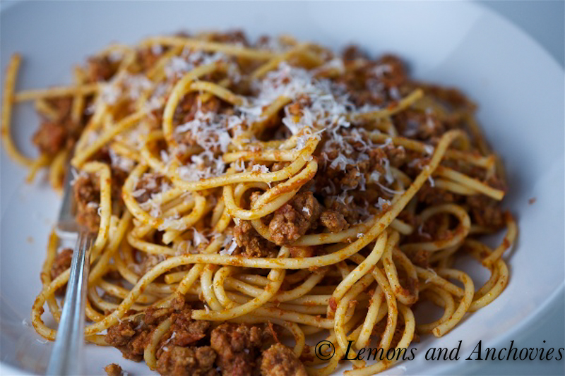 Bolognese Sauce Ragu Recipe Lemons Anchovies