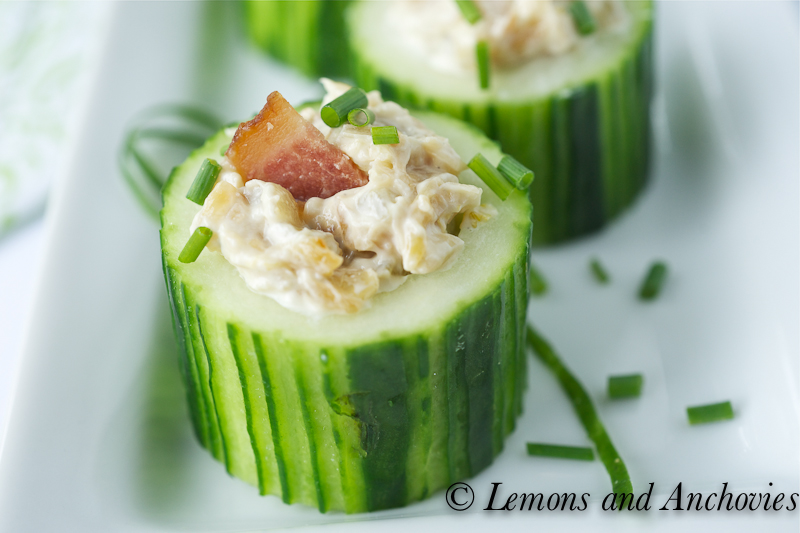 Cucumber Cups With Caramelized Onion And Bacon Recipe Lemons