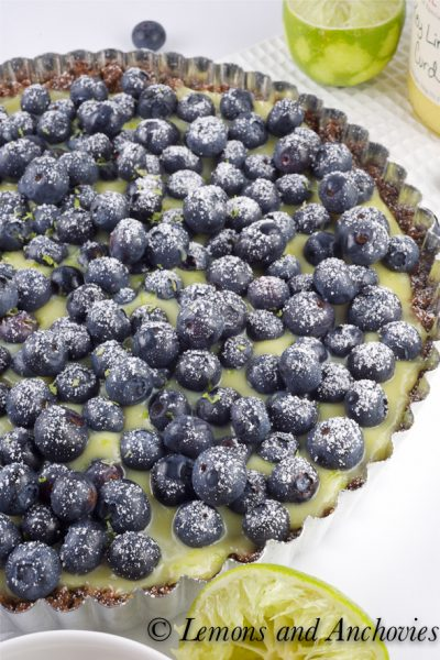 Key Lime Blueberry Ginger Tart (and a Giveaway!)