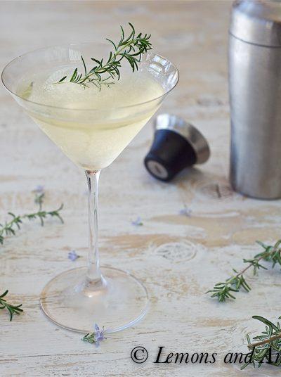 Rosemary-Infused Vodka Martini