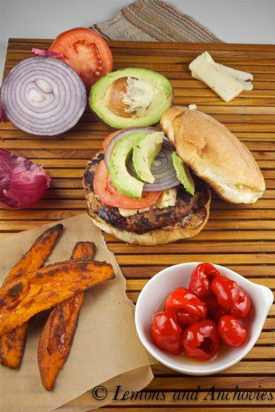 Southwestern Turkey Burgers and Sweet Potato Fries
