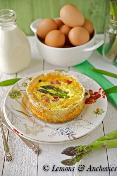 Bacon, Asparagus & Cheddar Quiche
