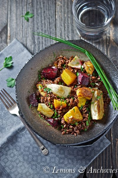 Red Rice with Roasted Squash, Fennel and Beets