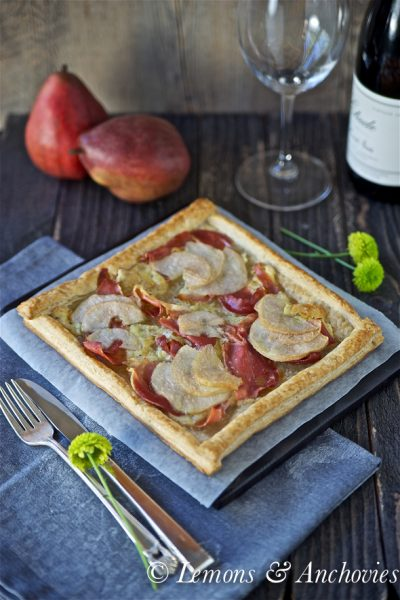 Pear, Prosciutto and Truffled Brie Tart