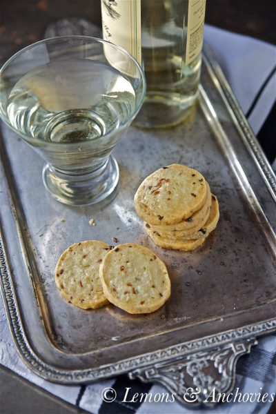 Cheddar, Feta and Caramelized Shallot Crackers