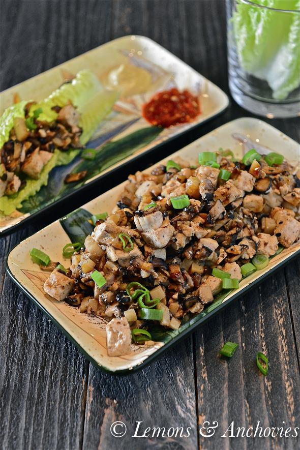 Mushroom-Tofu Lettuce Wraps