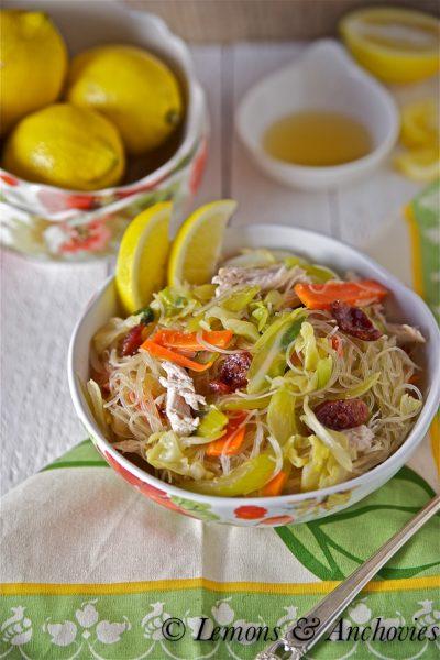 Pancit Bihon (Stir-Fried Rice Noodles)