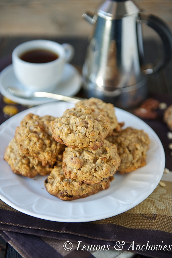 Raisin Pecan Oatmeal Cookies-3