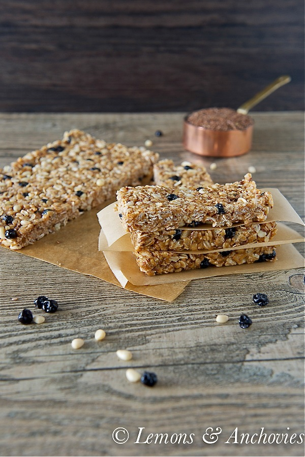 Blueberry Breakfast Bars (No Bake)-3