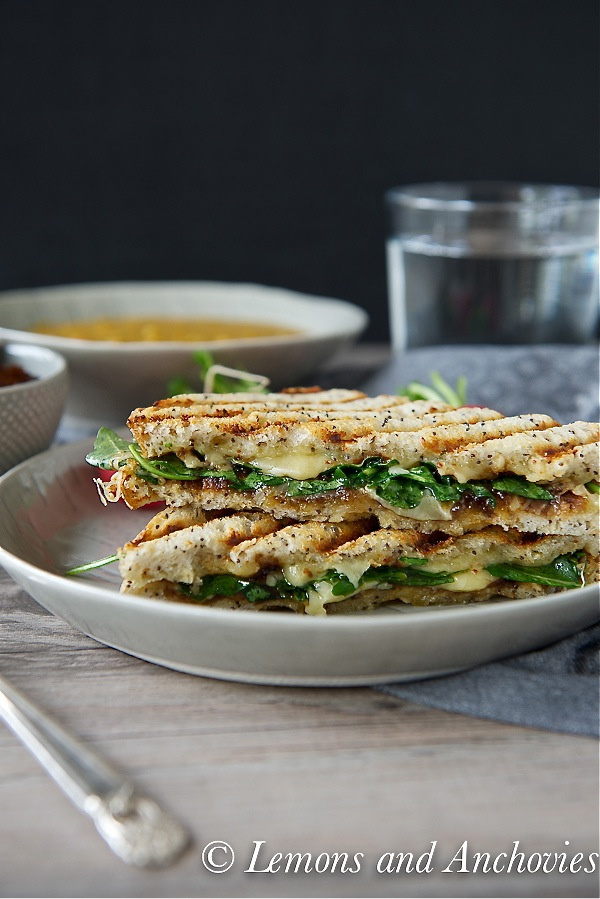 Grilled Cheese Sandwich with Fig Butter and Arugula-3