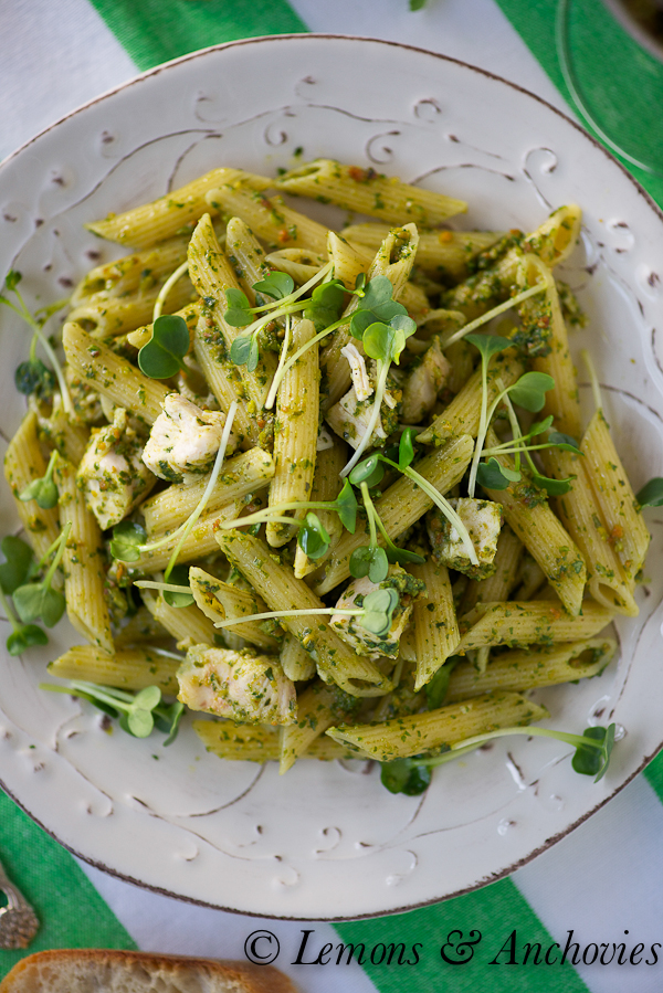 Penne with Chicken and Pistachio Pesto