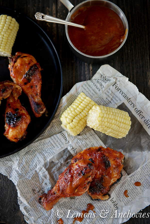 Chicken with Pineapple-Mango Chipotle Barbecue Sauce | Lemons & Anchovies Blog