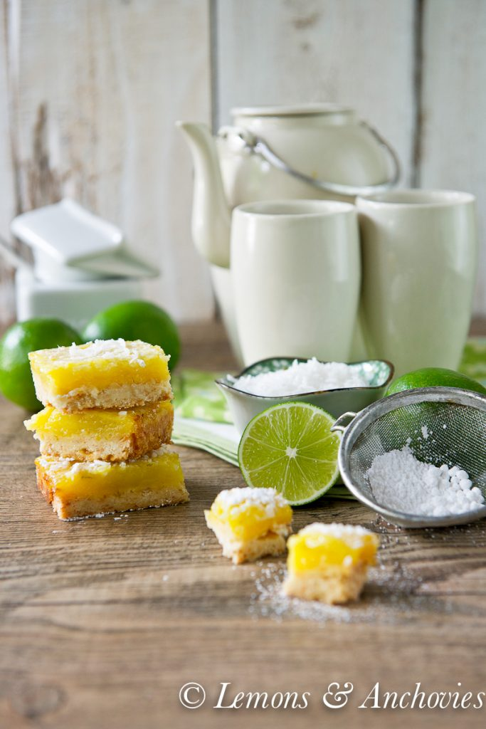 Coconut Lime Bars | https://lemonsandanchovies.com