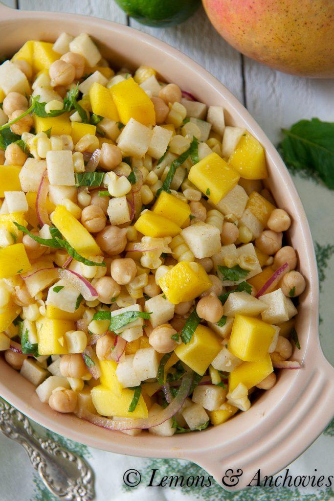 Mango Jicama & Corn Salad | https://lemonsandanchovies.com