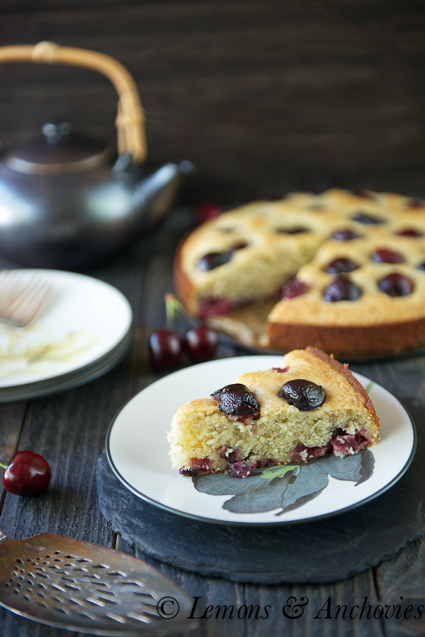 Cherry-Almond Cake | https://lemonsandanchovies.com