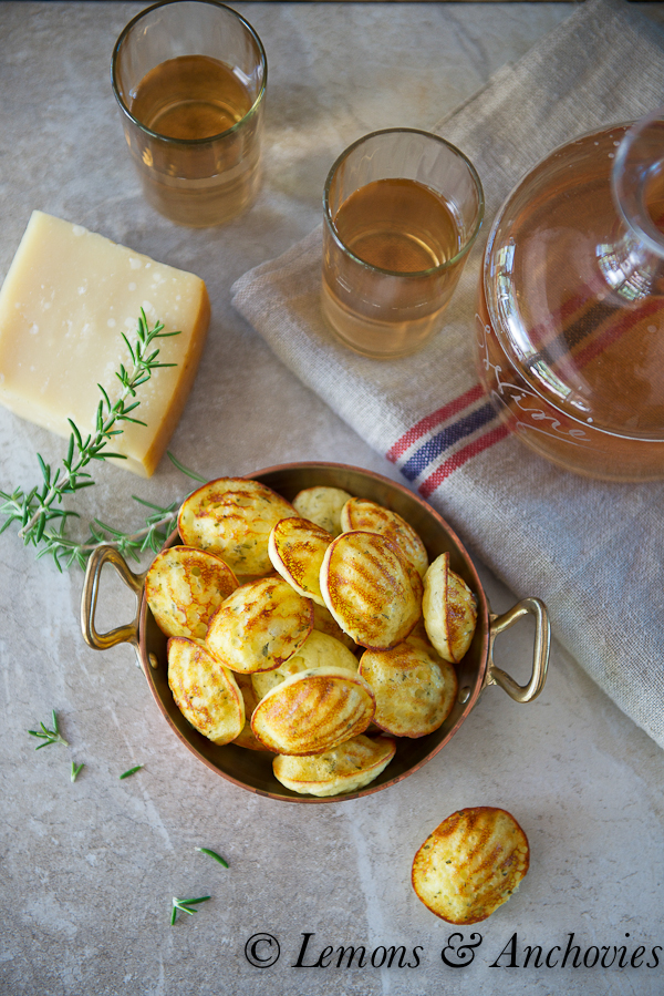 Savory Parmesan-Herb Madeleines | https://lemonsandanchovies.com