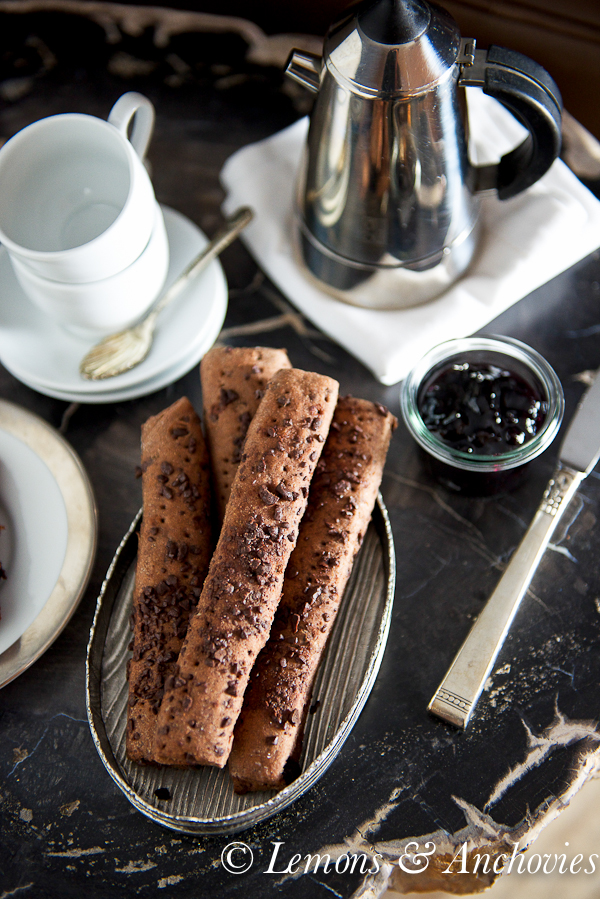 Benoitons with Chocolate Chips (French Rye Rolls; Chocolate Breadsticks)