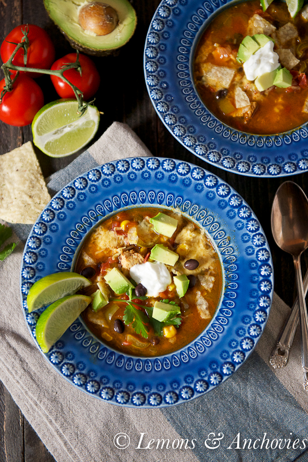 Chicken Tortilla Soup @lemonsanchovies