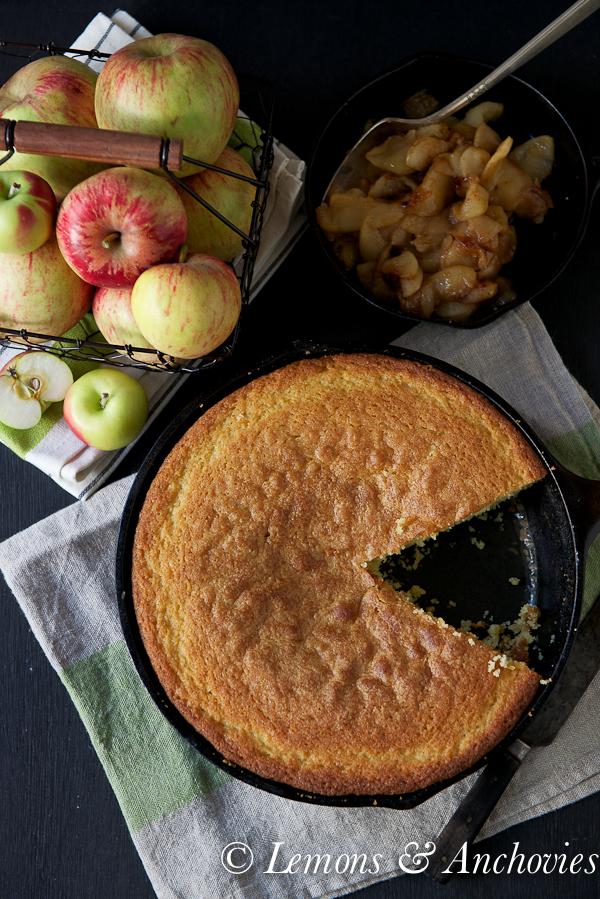 Olive Oil Cake with Sautéed Apples & Pears @lemonsanchovies