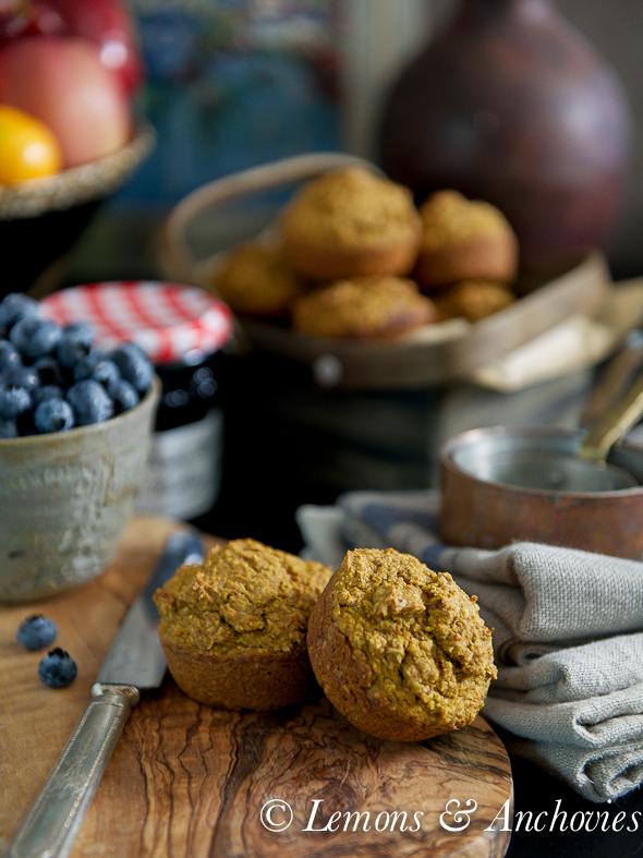 Pumpkin Bran Muffins | @lemonsanchovies
