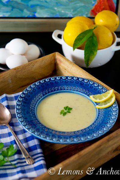 Soupa Avgolemono (Greek Egg-Lemon Soup)