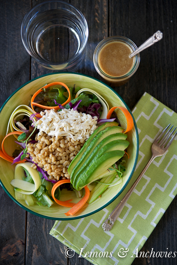 Tofu Buddha Bowl with Ginger-Soy Dressing