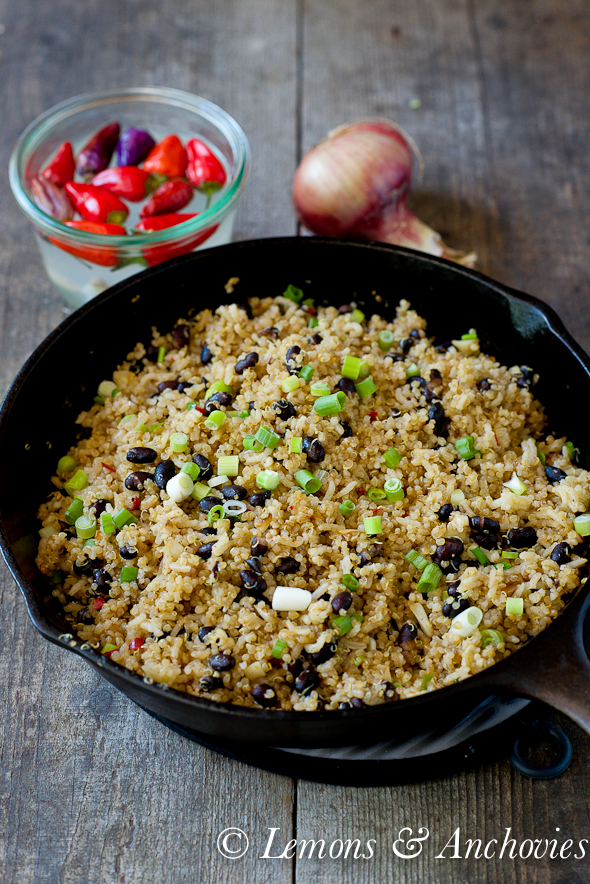 Quinoa and Black Bean Stir-Fry