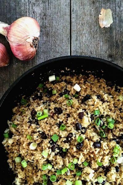 Quinoa and Black Bean Stir-Fry
