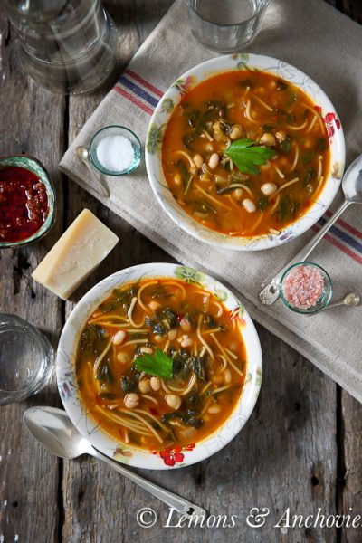 Hlelem: Tunisian Vegetable & Bean Soup