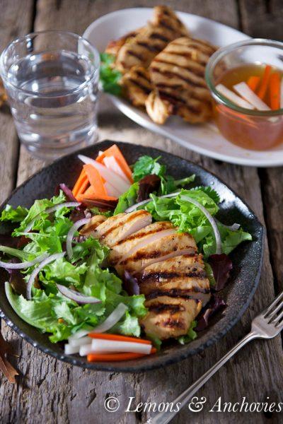 Vietnamese Lemongrass Grilled Chicken Salad