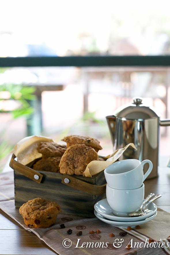 Cinnamon Raisin Streusel Muffins