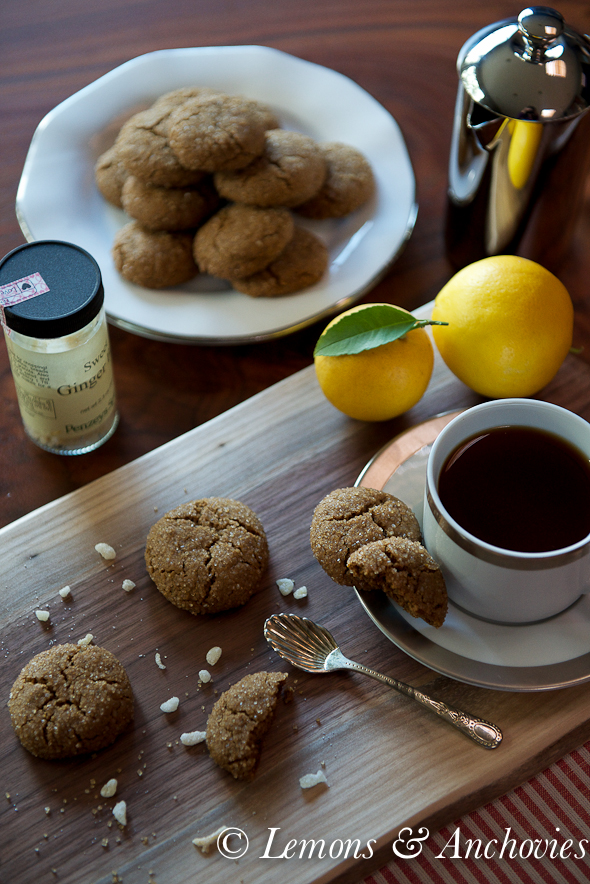 Lemon-Ginger Crinkle Cookies