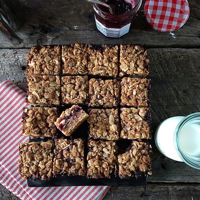 Cherry Almond Coconut Bars