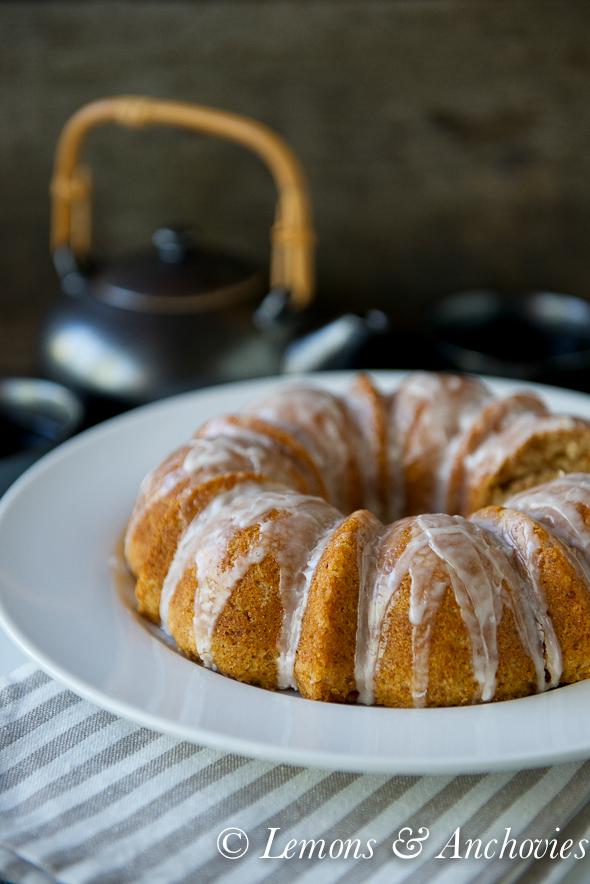 Almond Coconut Bundt Cake with Lemon Glaze