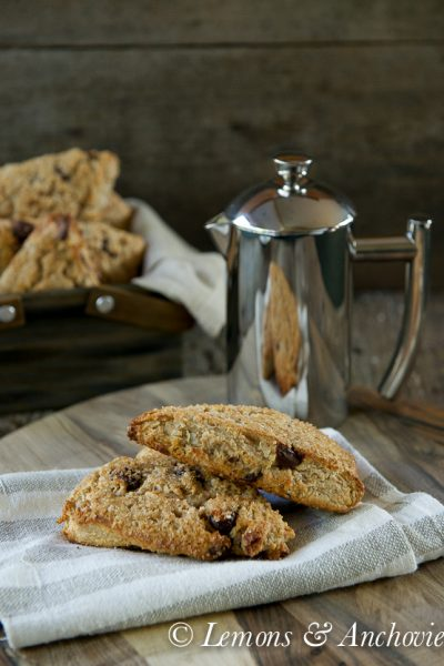 Sourdough Scones with Coconut and Chocolate