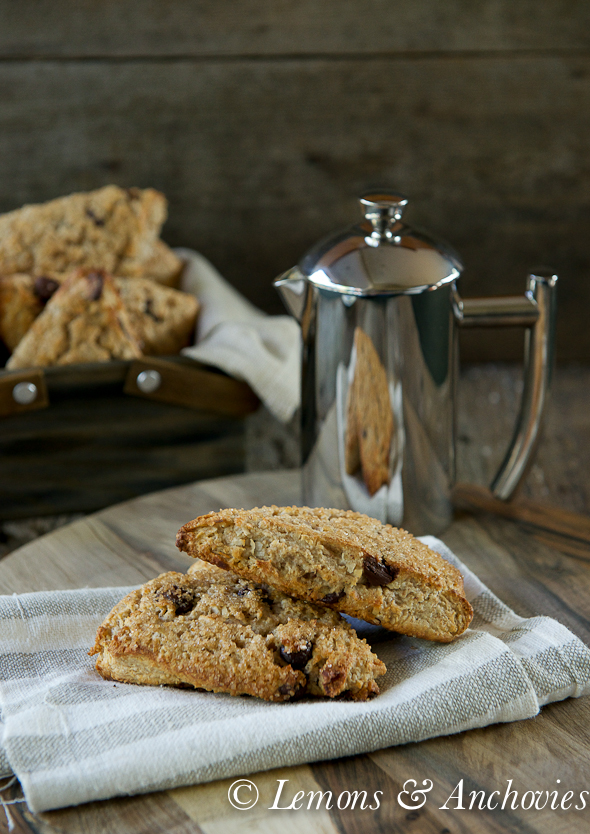 Sourdough Chocolate Coconut Scones