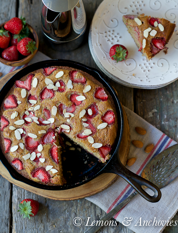 Strawberry-Almond Olive Oil Cake