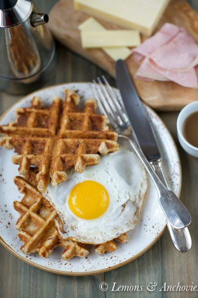 Savory Sourdough Waffles