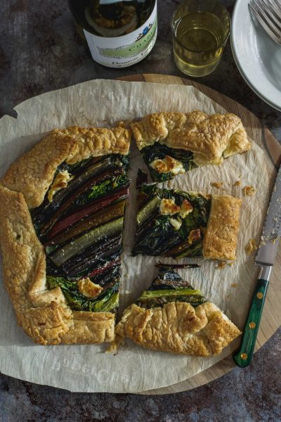 Rainbow Chard and Fig Puff Pastry Galette