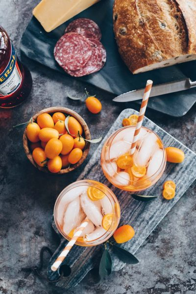 Rosé-Aperol Spritz (and a new L+A)