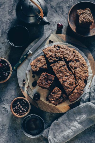 Chocolate-Cherry Skillet Banana Bread