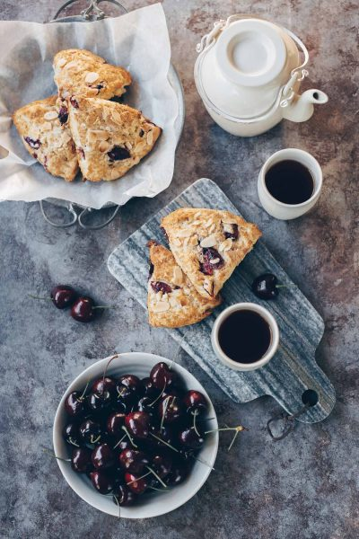 Fresh Cherry-Almond Scones
