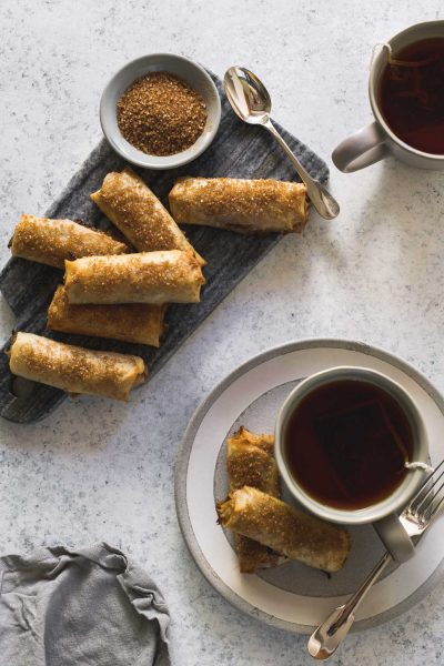 Baked Turon – Filipino Banana Spring Rolls