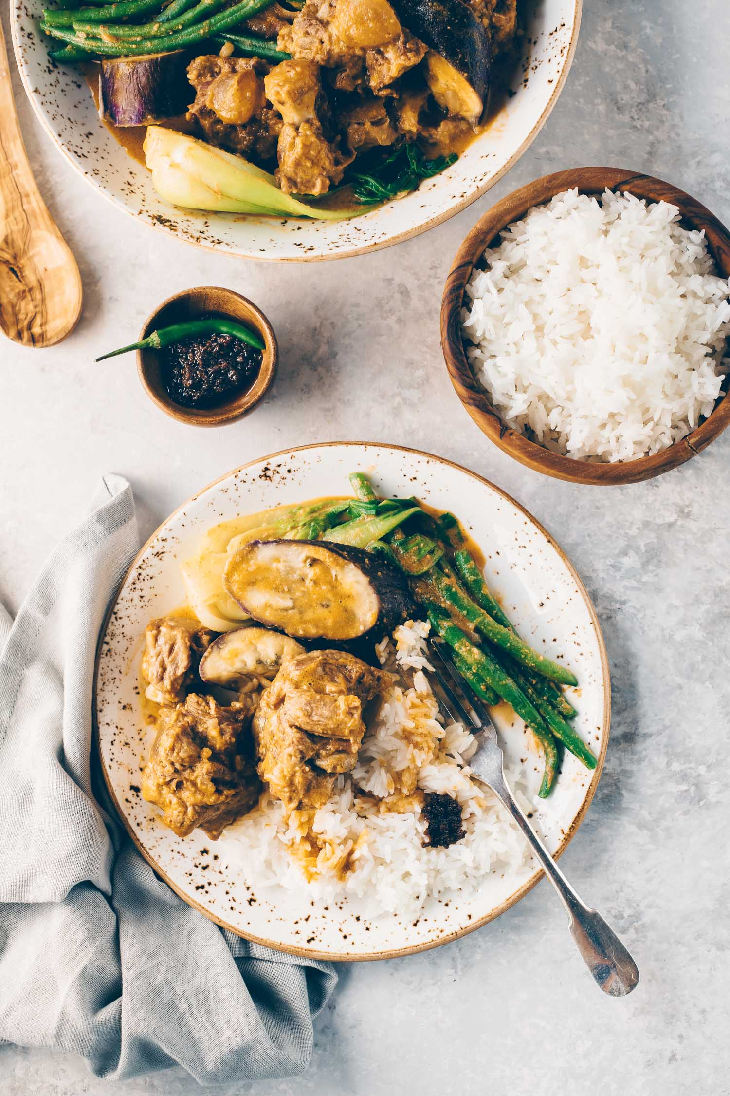 Instant Pot Kare Kare Filipino Oxtail Peanut Stew Lemons Anchovies