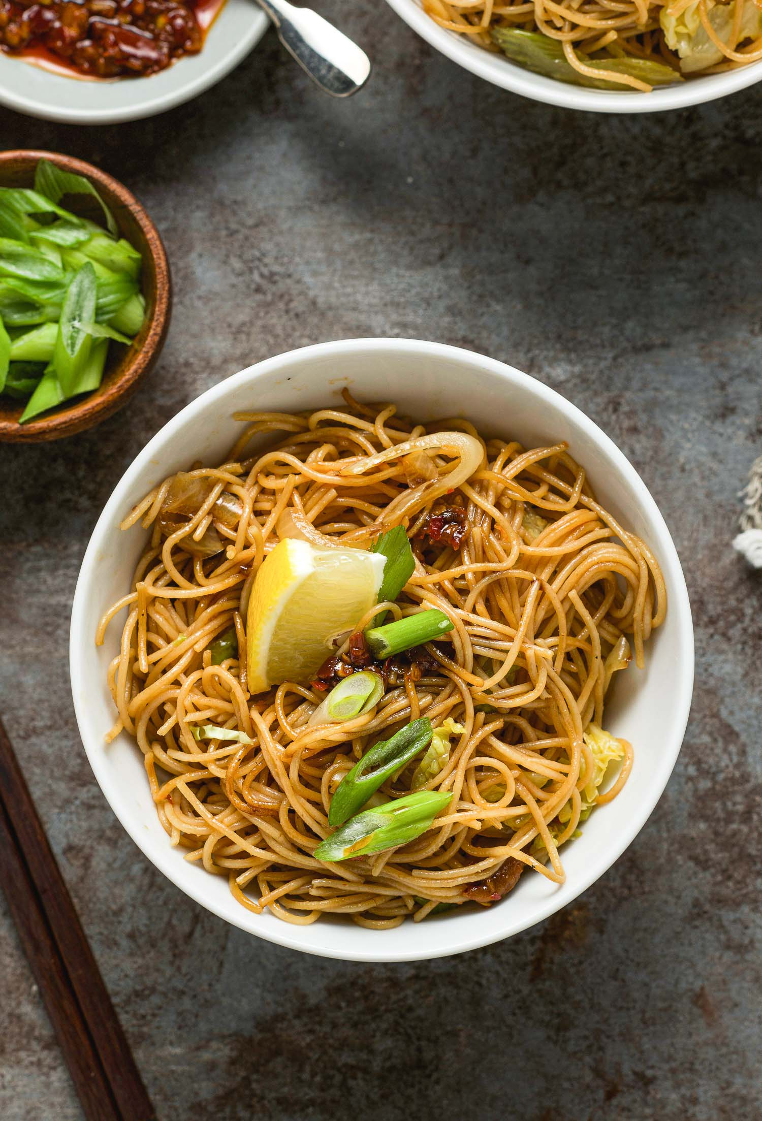 Miso Stir Fried Noodles Vegan Lemons Anchovies